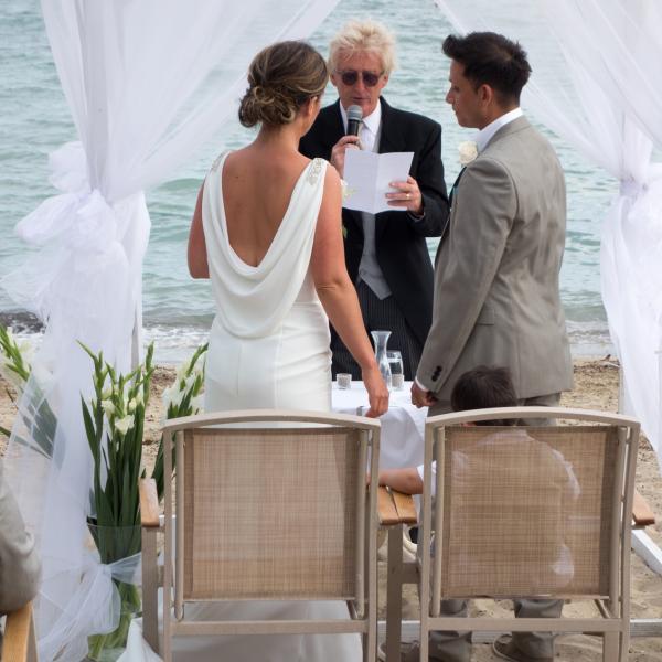 Non Religious Wedding.Ian Nina Rowan Fernando Ibiza Wedding Celebrant Non